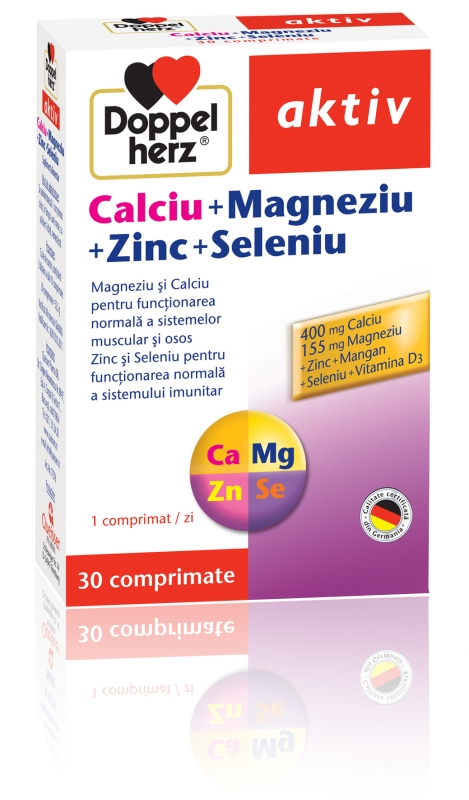 Ca+mg+zn+se Doppelherz x 30 Tablete