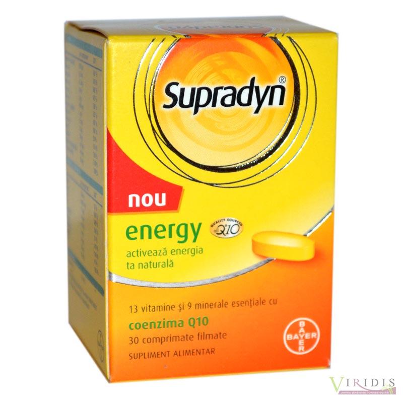 Supradyn Energy Coenzima Q10 X 30 Comprimate Filmate