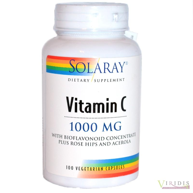 Vitamina C 1000mg Solaray x 100 Capsule
