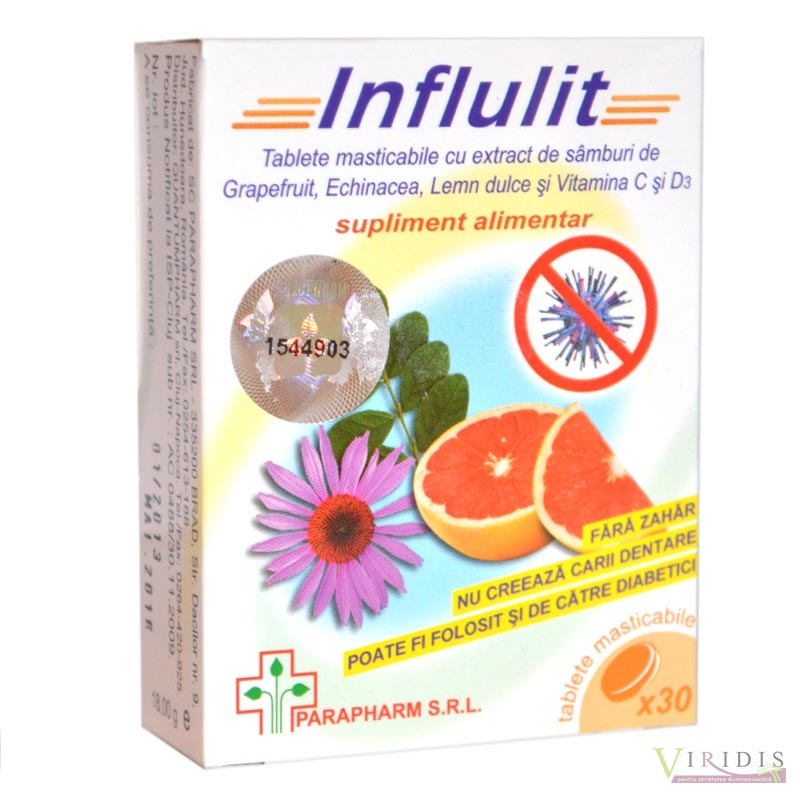 Influlit x 30 Tablete masticabile