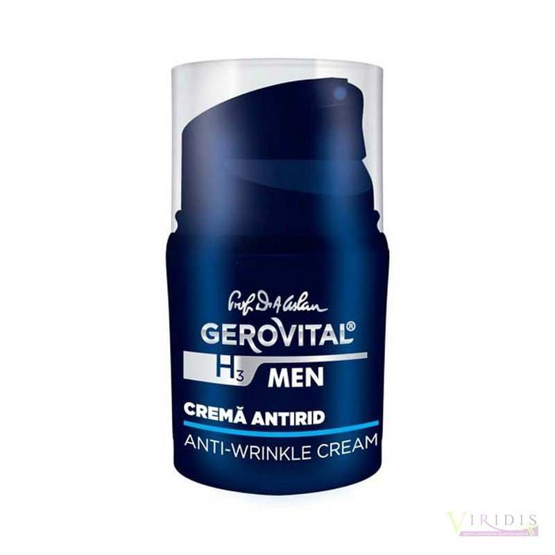 Crema Antirid Barbati 30ml GEROVITAL H3 MEN